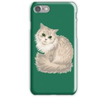 Cat with green eyes iPhone Case/Skin