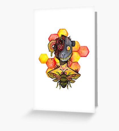 honey bee.  Greeting Card