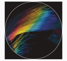 Prismatic Feather One Piece - Short Sleeve