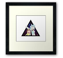 Rick and morty space V2. Framed Print