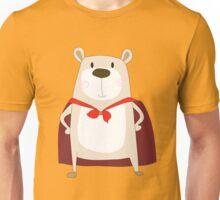 Cute Cartoon Bear Super Hero Unisex T-Shirt