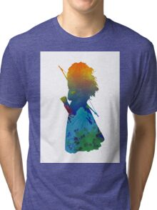 Princess Inspired Silhouette Tri-blend T-Shirt
