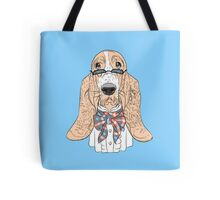 Hipster dog Basset Hound  Tote Bag