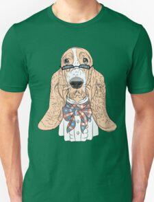 Hipster dog Basset Hound  T-Shirt