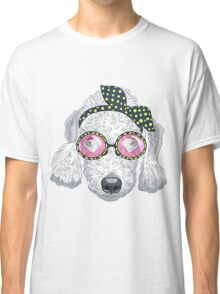 Hipster dog Bedlington Terrier Classic T-Shirt