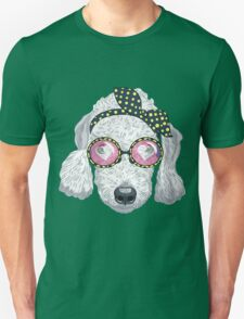 Hipster dog Bedlington Terrier T-Shirt
