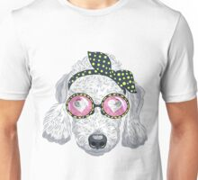Hipster dog Bedlington Terrier Unisex T-Shirt