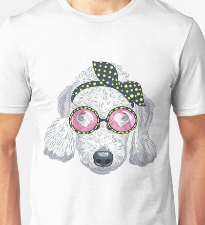 Hipster dog Bedlington Terrier Unisex T-Shirt