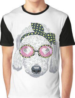 Hipster dog Bedlington Terrier Graphic T-Shirt