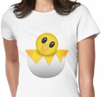 Hatching baby chick Emoji Womens Fitted T-Shirt