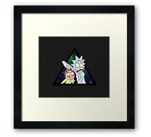 Rick and morty space V4. Framed Print