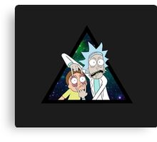Rick and morty space V4. Canvas Print
