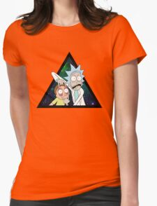 Rick and morty space V4. Womens Fitted T-Shirt