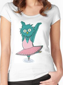 Owl ballet Women's Fitted Scoop T-Shirt