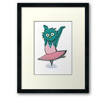 Owl ballet Framed Print