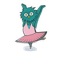 Owl ballet Photographic Print