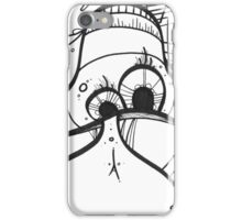Chaoshroom freehand colorless art iPhone Case/Skin