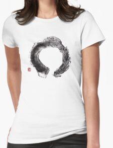 Enso Zen circle Womens Fitted T-Shirt