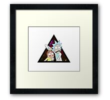 Rick and morty space V5. Framed Print