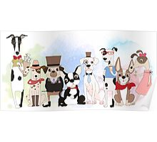 Silly Dogs Cartoon Pets  Poster