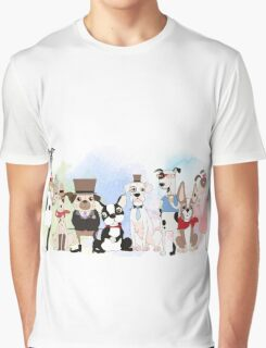 Silly Dogs Cartoon Pets  Graphic T-Shirt