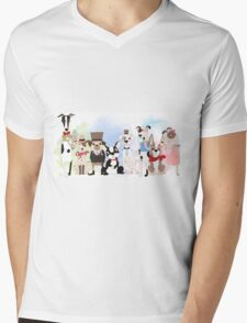 Silly Dogs Cartoon Pets  Mens V-Neck T-Shirt