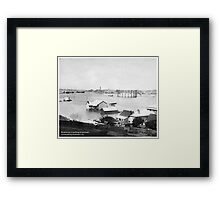 Brisbane Gas Co buildings, 1893 flood Framed Print