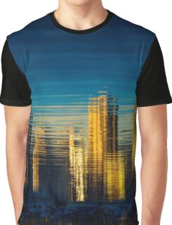 City Reflection in Sunset glow Graphic T-Shirt