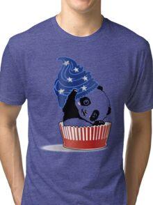 Panda America Cupcake  Tri-blend T-Shirt