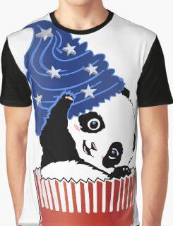 Panda America Cupcake  Graphic T-Shirt