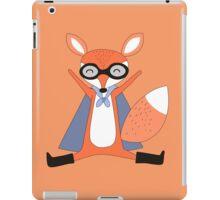 Silly Cartoon Animals Red Fox Superhero iPad Case/Skin