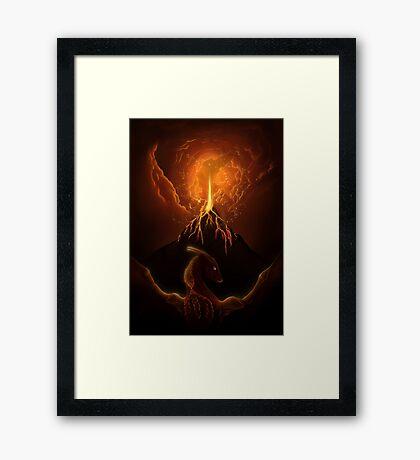 Dragon Born, Volcano Dragon Framed Print