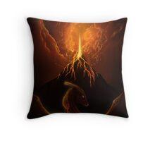 Dragon Born, Volcano Dragon Throw Pillow
