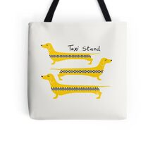 Taxi Stand Weenie Dogs Tote Bag
