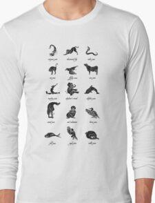 Animal Yogis_Black Long Sleeve T-Shirt
