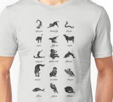 Animal Yogis_Black Unisex T-Shirt