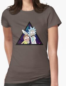 Rick and morty space v7. Womens Fitted T-Shirt