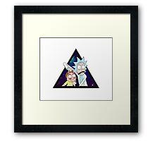 Rick and morty space v7. Framed Print