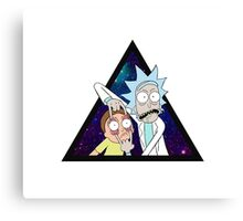 Rick and morty space v7. Canvas Print