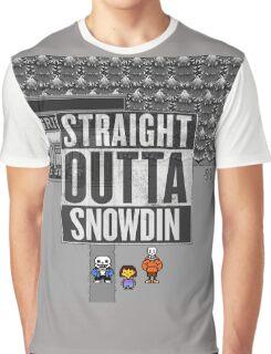 Straight Outta Snowdin - Undertale Graphic T-Shirt