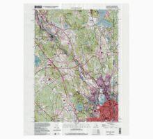 USGS TOPO Map Rhode Island RI Pawtucket 353337 1998 24000 One Piece - Long Sleeve