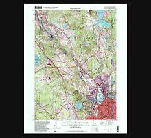 USGS TOPO Map Rhode Island RI Pawtucket 353337 1998 24000 Unisex T-Shirt