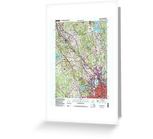 USGS TOPO Map Rhode Island RI Pawtucket 353337 1998 24000 Greeting Card