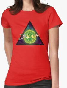 Wormhole!! Womens Fitted T-Shirt