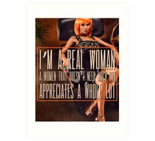 A Real Woman Art Print