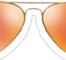 orange ray bans Sticker