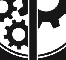 Brotherhood of Steel Emblem (Black) Sticker