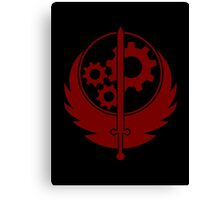 Brotherhood of Steel Emblem (Red) Canvas Print