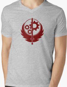 Brotherhood of Steel Emblem (Red) Mens V-Neck T-Shirt