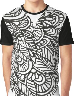 Heart Shaped Doodles Graphic T-Shirt